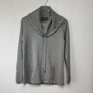 Karl Lagerfeld//Shimmering Grey Pullover Sweater